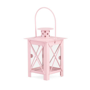 Portacandela rosa