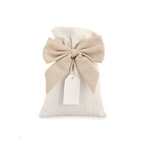 sacchetto con fiocco e tag