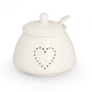 Zuccheriera linea cuore ceramica