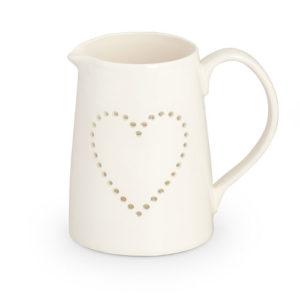 Lattiera Linea Cuore Traforato Cupido in ceramica