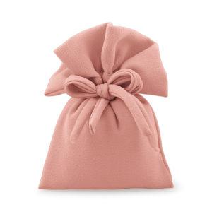 Sacchetto tessuto color rosa antico