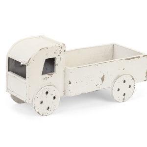 Camioncino grande legno sbiancato tortora