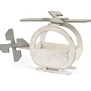 Elicottero legno sbiancato tortora