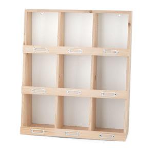 Display legno 9 caselle