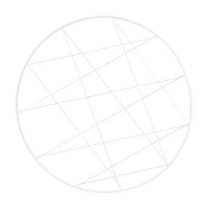 Cerchio bianco con fili