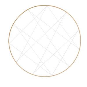 Cerchio oro con fili