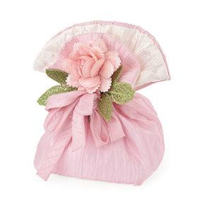 Sacchetto rosa con fiore