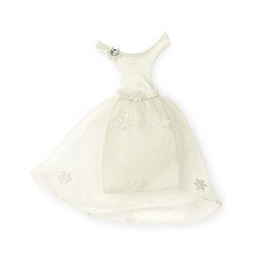 Vestito sposa avorio H 10 cm