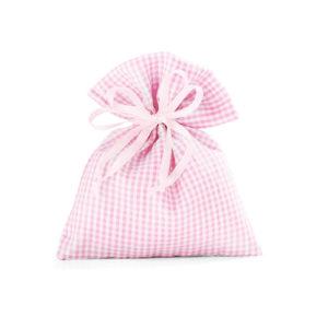 Sacchetto quadretti rosa