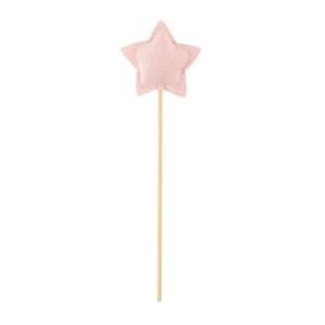 Stecca con stella rosa in tessuto