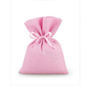 Sacchetto glitter rosa