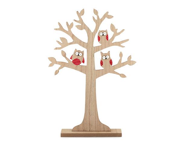 albero della vita con gufi