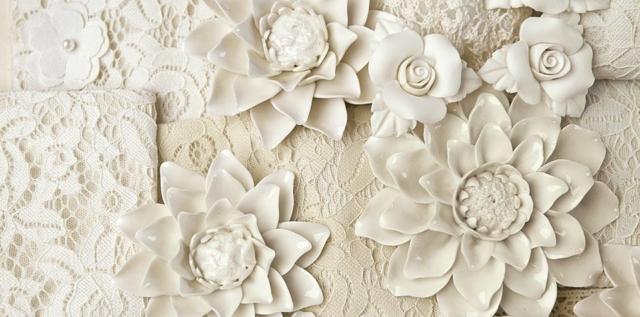 fiori in ceramica