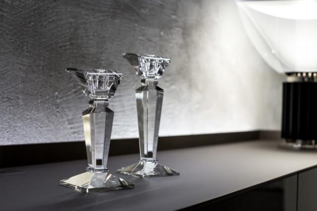 coppia candelieri in cristallo