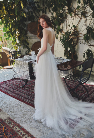 abito in tulle e pizzo chantilly