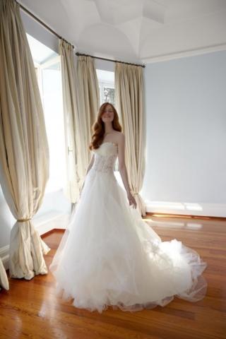 Elisabetta Polignano abito in tulle con corpino ricamato