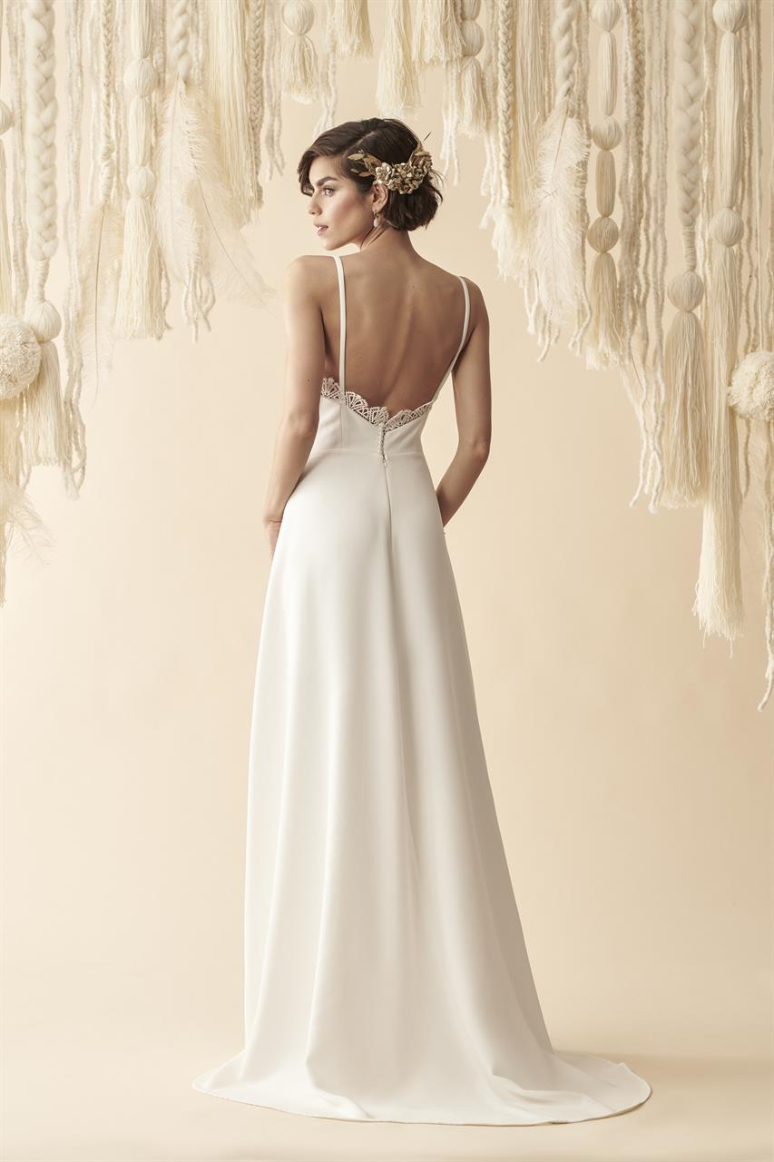 abito da sposa  in cady