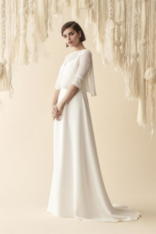 abito da sposa corpino in lana