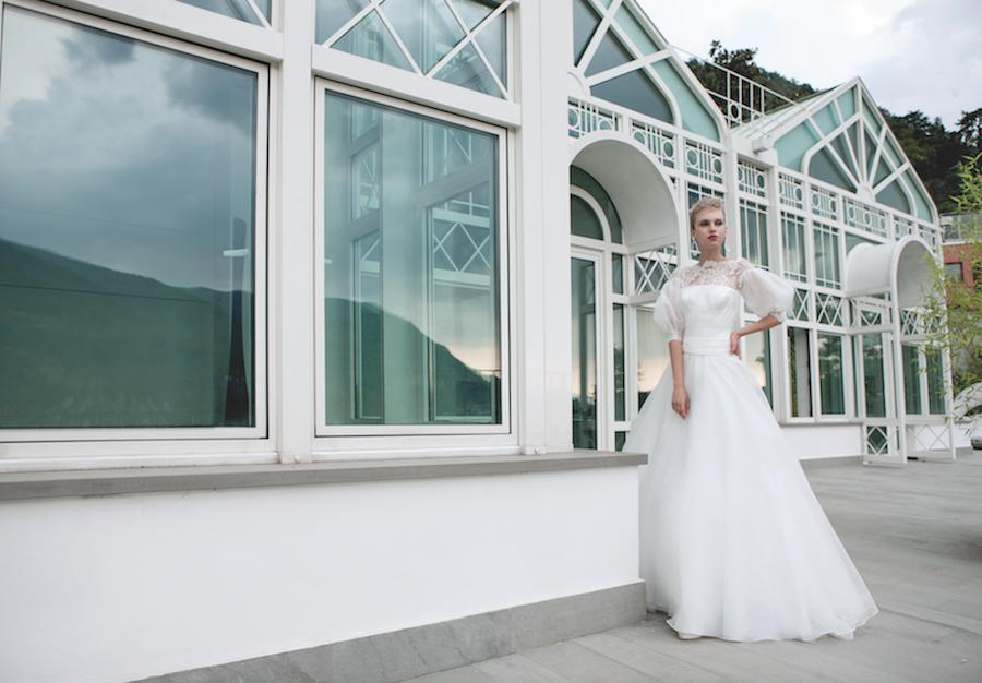 Elisabetta Polignano abito in organza di seta
