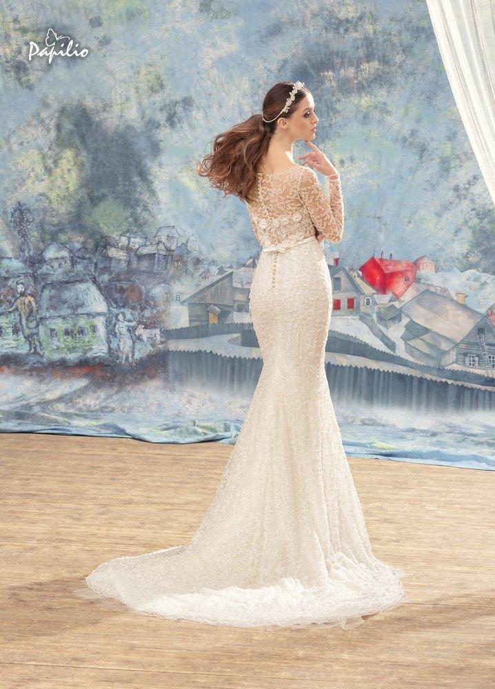 abito da sposa a sirena ricamata
