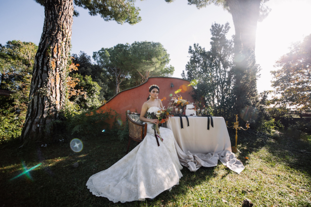 la tavola con la sposa