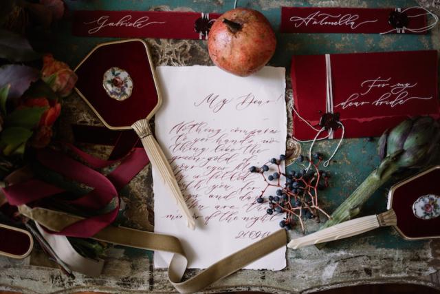 lettera calligrafia
