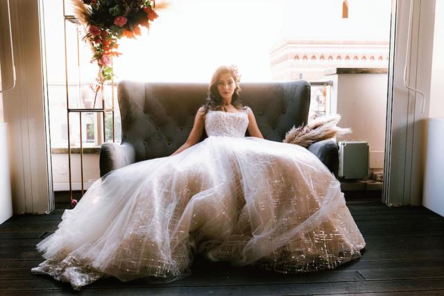 abito da sposa glitter