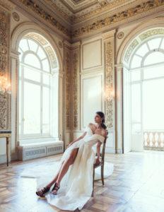 abito glitterato da sposa